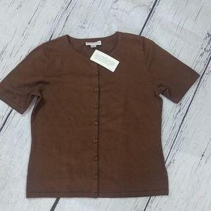 Pendelton Short Sleeve Cardigan